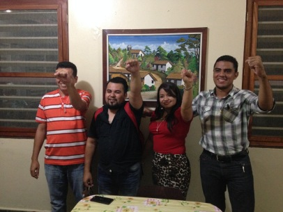 Several of the courageous nion leaders of garment workers we met in Honduras